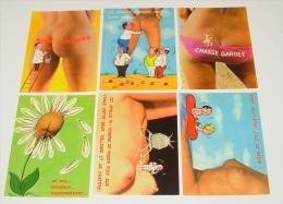 Lot 12 Cartes Postales Humoristiques - Humour - Illustrateurs - Femmes Nue - Nus - Humour