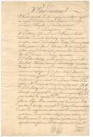 Acte Notarié - SAROLAY - ARGENTEAU  - Rachat D'un Capital Par La Commune En 1827 (b154) - Manuscrits