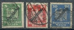 Allemagne - Année 1924-28 - Y & T - N° 69-70-71 Ob - Service