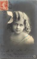 Themes - Enfants - Ref 402  -fantaisie - Portrait De Fillette  -  Fillettes - Carte Bon Etat - - Portraits