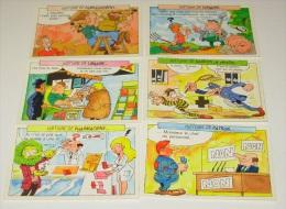 Lot 6 Cartes Postales Humoristiques - Humour  - Série Histoire De ::::: Méthiers  - Artisanat - Humour
