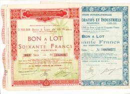 2 Actions Paris Expo Coloniale & Arts Déco - Actions & Titres