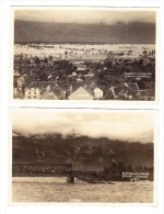 FL - Lot Von 2 Karten Überschwemmung - 1927 Schaan - Liechtenstein