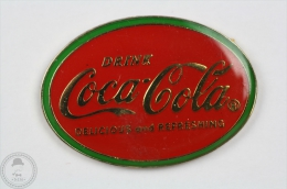 Vintage Coca Cola  Advertising - Delicious And Refreshing - Red And Green Colour - Pin Badge #PLS - Coca-Cola