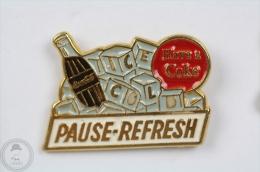 Pause - Refresh - Advertising Pin Badge #PLS - Coca-Cola