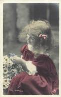 Themes - Enfants - Ref 376 - Fantaisie -portrait De  Fillette Aux Marguerites -  Fillettes - Carte Bon Etat - - Portraits