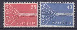 Europa Cept 1957 Switzerland 2v ** Mnh (14542) - 1957