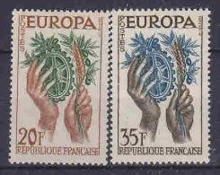 Europa Cept 1957 France 2v ** Mnh (14544) - Europa-CEPT