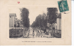 VILLIERS SUR MARNE,  Vue De L'Avenue Des Marronniers,  Encadrée,  Circulee, - Villiers Sur Marne