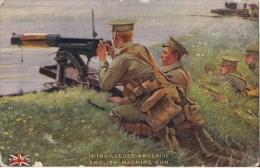 MITRAILLEUSE ANGLAISE ENGLISH MACHINE GUN ILLUSTRATION - Guerre 1914-18