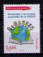 ANDORRA FRANCESA 2014 - ESCUELAS ASOCIADAS A LA UNESCO  - 1 SELLO - UNESCO