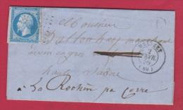 Lettre De Mélizay L  //  Pour La Rohère // 2 Février 1859  // Boîte Rurale L - Storia Postale