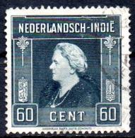 NETHERLANDS INDIES 1945  Queen Wilhelmina  -   60c. - Grey  FU - Niederländisch-Indien