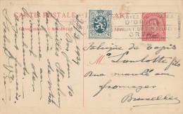 Entier Carte PAQUEBOT Voyageurs Type Petit Albert à 30 C + TP Héraldique BRUXELLES 1929 En Locale   -- 740/22 - Stamped Stationery