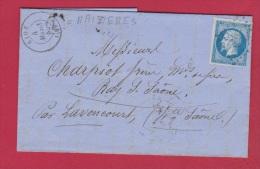 Lettre De Rioz  //  Pour Lavonourt  // 4 Mars 1859  // Boîte Rurale L  // Forges De Maizières - Postmark Collection (Covers)