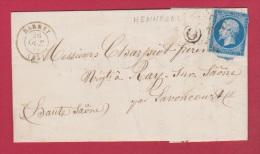 Lettre De Darney    //  Pour Lavoncourt    // 26 Octobre 1859 //  Boîte Rurale O - Storia Postale