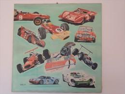"X OLIO SU TELA "" BAGARRE 69"" DIM 100X100 FORMULA 1 SPORT PROTOTIPI LOTUS HILL AUTOMOBILISMO RACE CAR POESCHE FORD - Oils"