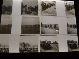 Lot De 14 Photos Plaque De Verre Stéréoscopique Guerre 14-18 Poilus Canon Tirailleurs, à Voir - Diapositiva Su Vetro