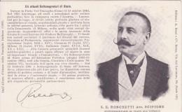 S.E Ronchetti Avv. Scipione - Sottosegretario Di Stato All Interno- Nato A Como 19 Ottobre 1846 - Personaggi