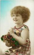 Themes - Enfants - Ref 346 - Fantaisie - Portrait De Fillette Avec Panier De Cerises - Fillettes -  Carte Bon Etat - - Portraits