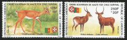 Cameroun Cameroon 1991 SMOM Fauna Antilopes Yv841/2 Mi 1175/6 Mint Neuf Set - Kameroen (1960-...)