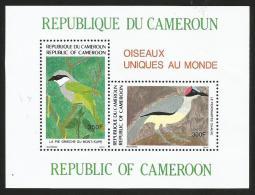 Cameroun Cameroon 1991 Picathartes Lanius Birds Oiseau Yv Bf 29 Mi Bl30 Mint Neuf Miniature Sheet - Kameroen (1960-...)