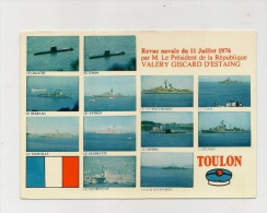 83 Toulon Revue Navale Juillet 1976 Giscard D'estaing Combier Neuve - Toulon