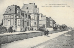 Lion-sur-mer - Villa Tanagra Et Digue-Promenade à L´Est - Carte B.F Non Circulée - Frankreich