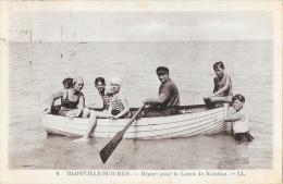 Blonville-sur-mer - Départ Pour La Leçon De Natation - Elèves En Barque - Carte LL N°6 - Autres Communes