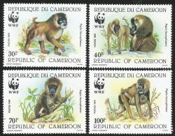 Cameroun Cameroon 1988 WWF Drill Yv 822-5 Mi 1155-8 Mint Neuf Set - W.W.F.