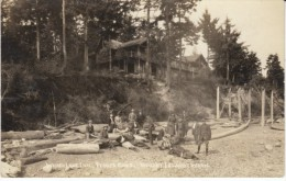 Whid-Isle Inn Penn's Cove Whidbey Island Washington, People On Beach, C1910s Vintage Real Photo Postcard - Stati Uniti