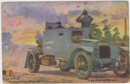 GUERRE 14/18 : 2C.P.:  ARMEE BELGE : N°D 6 AUTO MITRAILLEUSE BELGE + SOLDATS ...... - Guerre 1914-18