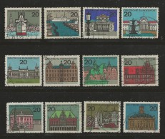 GERMANY 1964 Cancelled Stamp(s) Capital Cities 416-427 - [7] Federal Republic