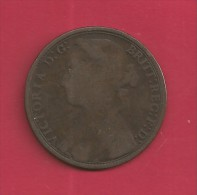 UK, 1879, Circulated Coin VF, 1 Penny, Young Victoria, Bronze, C1939 - 1816-1901 : 19th C. Minting