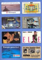 8 Different Value Phonecards, Second-hand, See Scan; 8 Verschiedene TWK, Gebraucht, Siehe Scan; - Télécartes