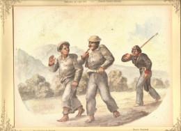 O) 1973 COLOMBIA,RAMON TORRES MENDEZ- PAINTING: INMATES OF BOGOTA-NICE COLOR-NEW  GRANADA CUSTOMS, NATIONAL MUSEUM OF TH - Litografia