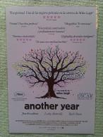Folleto De Mano. Película Another Year. David Bradley. Karina Fernández. Reino Unido. 2010 - Non Classificati