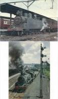 AFRIQUE DU SUD : Loco Vapeur Et Train Historique  LOT De 2 CPM Détails  Sur Le 2ème Scan - Trains