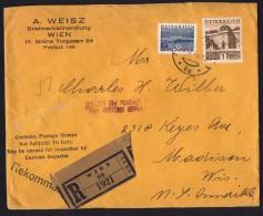 1933   R-Brief  Nach  USA MiNr 510, 540 - 1918-1945 1. Republik