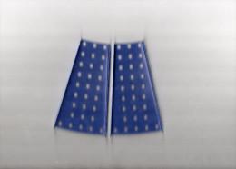 ELEMENTS MECCANO  2 Plaques Secteur � Rebords 112 mm  METAL Couleur Bleu