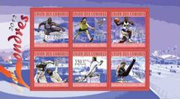 cm10221a Comores 2010 Olympic Games London 2012 s/s Athletics Tenni Basketball Rhythmic Fencing Kendo Soccer Gymnastics