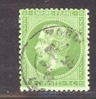 France  :  Yv  35  (o)               ,       N2 - 1862 Napoléon III