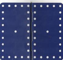 ELEMENT MECCANO   Plaque � Charniere 11,5x6cm  METAL Couleur Bleu