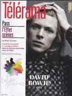 David Bowie      TELERAMA   COVER  FRANCE - 1950 à Nos Jours