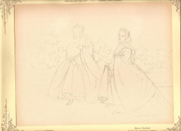 O) 1973 COLOMBIA,RAMON TORRES MENDEZ- PAINTING: LADIES SANTAFEREñAS ,CARBONCILLO-NEW GRANADA CUSTOMS, NATIONAL MUSEUM OF - Lithographies