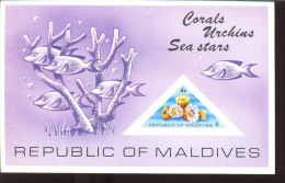 MALDIVES ; MINT N.H. STAMPS ; SCOTT # 565 ; IMPERFORATED ; IGPC 1975 (  CORALS ; FISH - Maldives (1965-...)