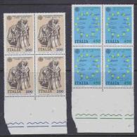 Europa Cept 1982 Italy 2v Bl Of 4  ** Mnh (14580) - Europa-CEPT