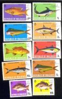 MALDIVES ; MINT N.H. STAMPS ; SCOTT # 436-45 ;   IGPC  1973   (FISH ; SHIPS - Maldivas (1965-...)