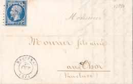 12294# NAPOLEON N°14 / LETTRE Obl HAGUENAU 1857 BAS RHIN ALSACE Pour THOR T22 VAUCLUSE - Postmark Collection (Covers)