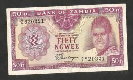 [NC] ZAMBIA - BANK Of ZAMBIA - 50 NGWEE (1969) - Zambia